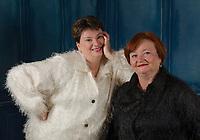 Patti and Lynn photo session in studio. ©2017 Karen Bobotas Photographer