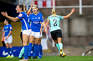 GOAL scores 4-0 Brighton & Hove Albion defender Emma Koivisto (2) scores during the FA Women's Super League match between Birmingham City Women and Brighton and Hove Albion Women at St Andrews, Birmingham United Kingdom on 12 September 2021.