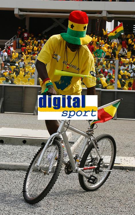 Photo: Steve Bond/Richard Lane Photography.<br />Ghana v Guinea. Africa Cup of Nations. 20/01/2008. One legged trick cyclist