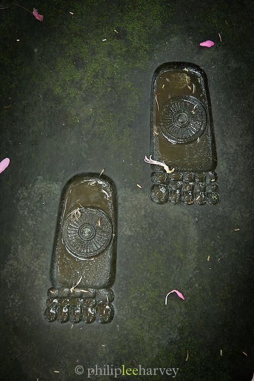 Buddha Footprints, Yogyakarta, South Central Java, Java, Indonesia, Southeast Asia