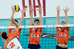 Lukas Divis of Jastrzebski during volleyball match between ACH Volley (SLO) and Jastrzebski Wegiel (POL) in 6th Round of 2011 CEV Champions League, on January 12, 2011 in Arena Stozice, Ljubljana, Slovenia. (Photo By Matic Klansek Velej / Sportida.com)