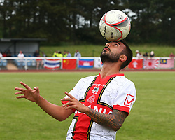 June 9, 2018 - London, England, United Kingdom - Giulio Valente of Padania .during Conifa Paddy Power World Football Cup 2018 Bronze Medal Match Third Place Play-Off between Padania v Szekely Land at Queen Elizabeth II Stadium (Enfield Town FC), London, on 09 June 2018  (Credit Image: © Kieran Galvin/NurPhoto via ZUMA Press)