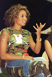 Mel B, Scary spice speaks at a  press at during the official opening of the  Host Media Centre in Chapeltown Leeds on Thursday evening