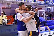 Poeta Giuseppe, Moraschini Riccardo<br /> Happycasa Brindisi - Fiata Torino<br /> Legabasket Serie A 2018-2019<br /> Brindisi , 10/03/2019<br /> Foto Michele Longo/ Ciamillo-Castoria