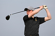 Darcy Hogg (RBAI) on the 1st tee during the Final of the Irish Schools Senior Championship at Portstewart Golf Club, Portstewart, Co Antrim on Tuesday 23rd April 2019.<br /> Picture:  Thos Caffrey / www.golffile.ie