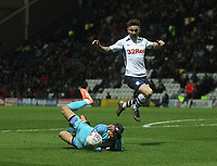 Preston North End's Sean Maguire in action with Luton Town's James Shea<br /> <br /> Photographer Mick Walker - CameraSport<br /> <br /> The EFL Sky Bet Championship - Preston North End v Luton Town - Saturday 14th December 2019 - Deepdale Stadium - Preston<br /> <br /> World Copyright © 2019 CameraSport. All rights reserved. 43 Linden Ave. Countesthorpe. Leicester. England. LE8 5PG - Tel: +44 (0) 116 277 4147 - admin@camerasport.com - www.camerasport.com