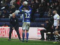 Preston North End's Sean Maguire shouts instructions to Sean Maguire (right) <br /> <br /> Photographer Kevin Barnes/CameraSport<br /> <br /> The EFL Sky Bet Championship - Preston North End v Birmingham City - Saturday 16th March 2019 - Deepdale Stadium - Preston<br /> <br /> World Copyright © 2019 CameraSport. All rights reserved. 43 Linden Ave. Countesthorpe. Leicester. England. LE8 5PG - Tel: +44 (0) 116 277 4147 - admin@camerasport.com - www.camerasport.com