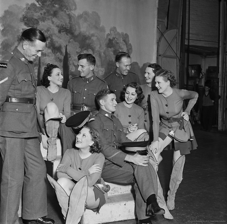 Australian Soldiers on stage at The Hippodrome, London, England, 1937