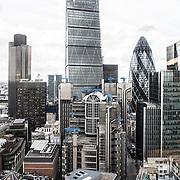 London City view , Office blocks skyscrapers