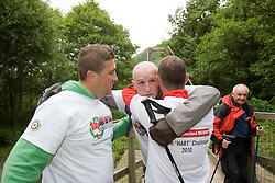 John arrives back..The John Hartson Foudation walk up Ben Nevis..Pic ©2010 Michael Schofield. All Rights Reserved.