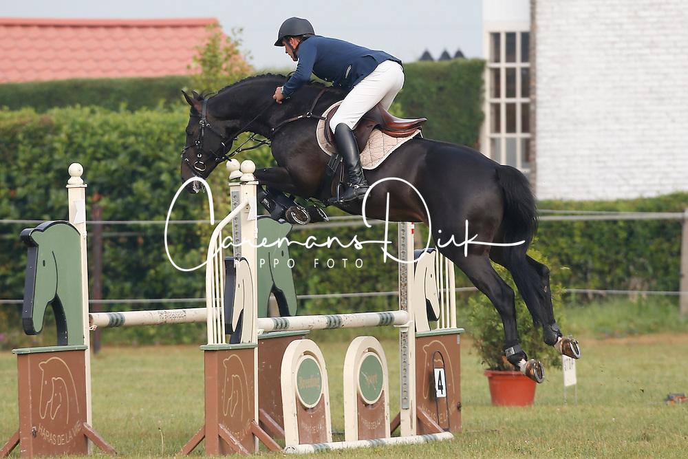 Vrins Nick (BEL) - Karmel vd Watering<br /> SBB Competitie Jonge Paarden - Nationaal Kampioenschap - Kieldrecht 2014<br /> © Dirk Caremans