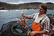 Simon Witham, lobster fisherman near Dinosaur Cove at Cape Otway, Victoria, Australia. MODEL RELEASED.