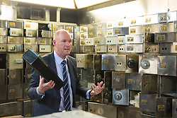 EDITORIAL USE ONLY<br /> Former police commander Peter Spindler at the Hatton Garden Safe Deposit, in Hatton Garden, London, which was at the centre of a high profile heist in 2015 by a gang of career criminals who stole £14 million worth of jewels.