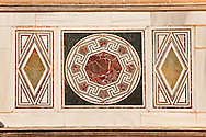 4th cent. AD geometric wall mosaics of the late Roman period Jewish synagogue of Sardis.  Sardis archaeological site, Hermus valley, Turkey. Discovered in 1962 as part of an on going  Harvard Art Museum excavation project. .<br /> <br /> If you prefer to buy from our ALAMY PHOTO LIBRARY  Collection visit : https://www.alamy.com/portfolio/paul-williams-funkystock/sardis-archaeological-site-turkey.html<br /> <br /> Visit our CLASSICAL WORLD HISTORIC SITES PHOTO COLLECTIONS for more photos to download or buy as wall art prints https://funkystock.photoshelter.com/gallery-collection/Classical-Era-Historic-Sites-Archaeological-Sites-Pictures-Images/C0000g4bSGiDL9rw