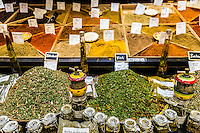 Les Halles  Avignon is the city's covered market made up  of 40 stalls with high quality local produce:  fruit, vegetabes, herbs and spices, soap, olive oil and other specialities of Provence. It has become a local foodie emporium with high end quality and prices to match.
