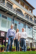 Federal Realty executive team photographed at Santana Row in San Jose, California, on August 22, 2017. (Stan Olszewski for Silicon Valley Business Journal)