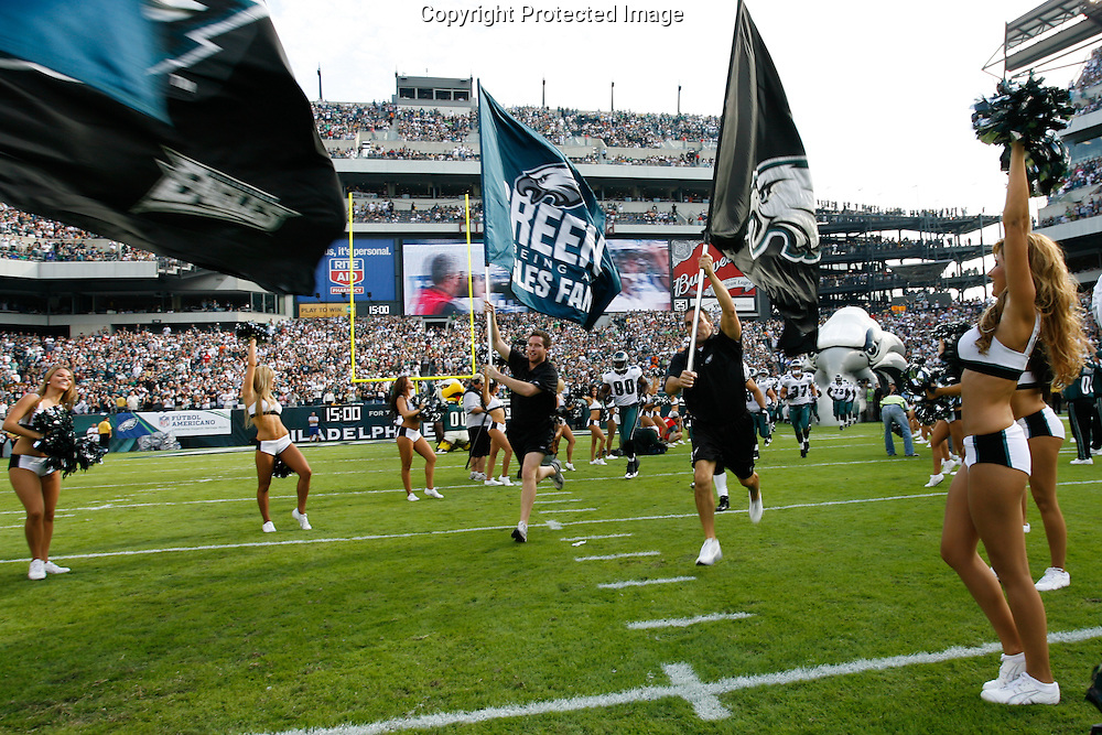 21 Sept 2008: Philadelphia Eagles flags are displayed before the game against the Pittsburgh Steelers on September 21st, 2008.  The Eagles won 15-6 at Lincoln Financial Field in Philadelphia Pennsylvania.
