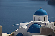 The town of Oia on the island of Santorini.  Photograph by Dennis Brack