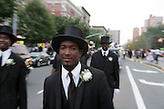 July 24, 2012-New York, NY:  Atmosphere at the official Slyvia Woods Harlem Community memorial and send off through the streets of Harlem. Sylvia Woods was an American restaurateur who co-founded the landmark restaurant Sylvia's in Harlem on Lenox Avenue, New York City with her husband, Herbert Woods, in 1962. (Photo by Terrence Jennings)