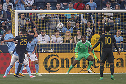 April 14, 2017 - Chester, PA, United States of America - New York City FC Keeper SEAN JOHNSON (1) attempts to make a save in the first half of a Major League Soccer match between the Philadelphia Union and New York City FC Friday, Apr. 17, 2016 at Talen Energy Stadium in Chester, PA. (Credit Image: © Saquan Stimpson via ZUMA Wire)