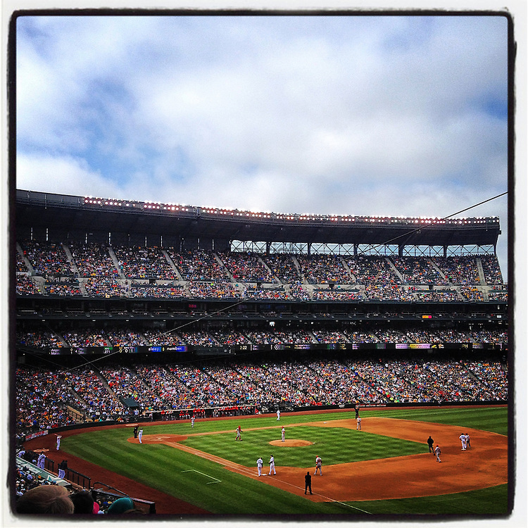 2014 September 28 - Mariners baseball game at Safeco Field, Seattle, WA, USA. Taken/edited with Instagram App for iPhone. By Richard Walker