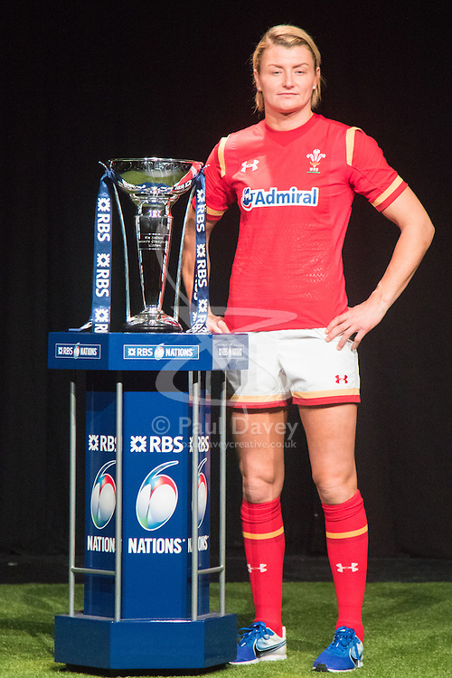 Hurlingham Club, London, January 27th 2016. Wales Women's Captain Rachel Taylor at the launch of the RBS Six Nations Rugby Tornament. ///FOR LICENCING CONTACT: paul@pauldaveycreative.co.uk TEL:+44 (0) 7966 016 296 or +44 (0) 20 8969 6875. ©2015 Paul R Davey. All rights reserved.