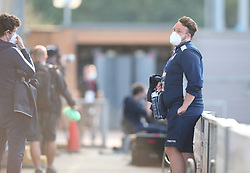 Ball boys are seen pitch side wearing face masks - Mandatory by-line: Arron Gent/JMP - 18/06/2020 - FOOTBALL - JobServe Community Stadium - Colchester, England - Colchester United v Exeter City - Sky Bet League Two Play-off 1st Leg