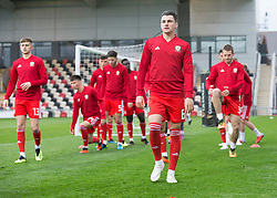 NEWPORT, WALES - Tuesday, October 16, 2018: Wales' captain Regan Poole warms up ahead of the UEFA Under-21 Championship Italy 2019 Qualifying Group B match between Wales and Switzerland at Rodney Parade. (Pic by Laura Malkin/Propaganda)