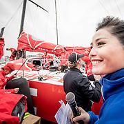 © Maria Muina I MAPFRE. Dock out for the In Port Race in Guangzhou. A punto de soltar amarras para la costera de Guangzhou.