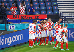 Croatia's Luka Modric celebrates scoring their side's second goal of the game during the UEFA Euro 2020 Group D match at Hampden Park, Glasgow. Picture date: Tuesday June 22, 2021.