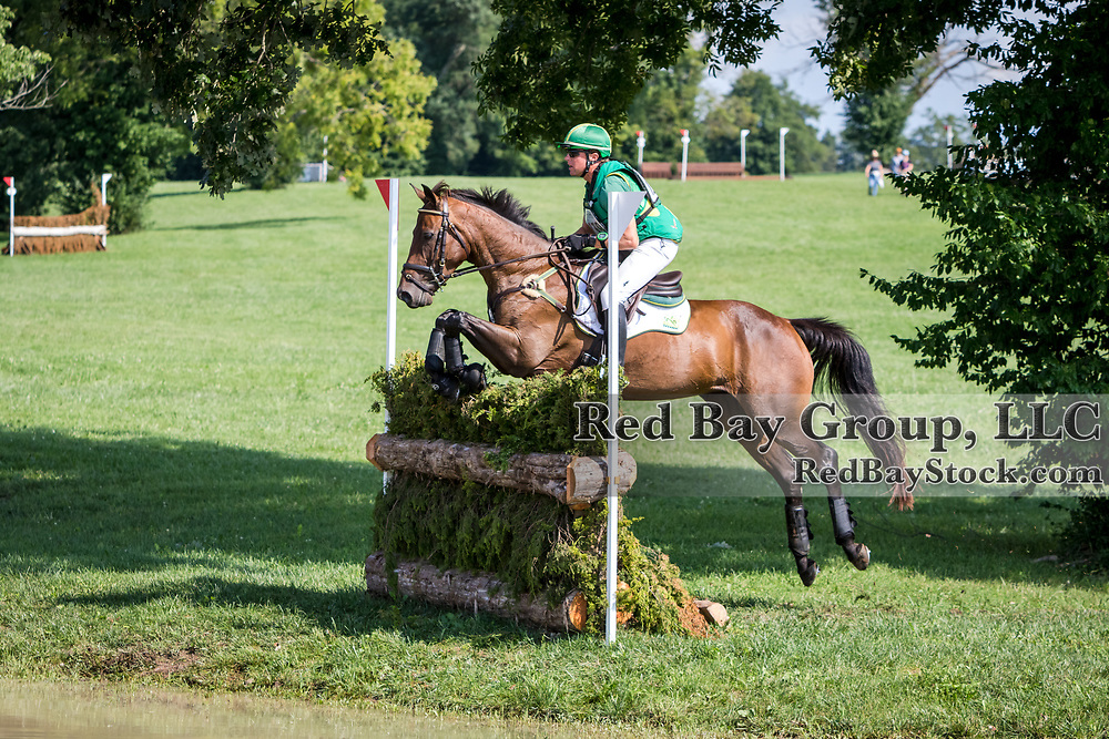 Karl Slezak (CAN) and Hot Bobo at the USEA American Eventing Championships in Lexington, Kentucky.