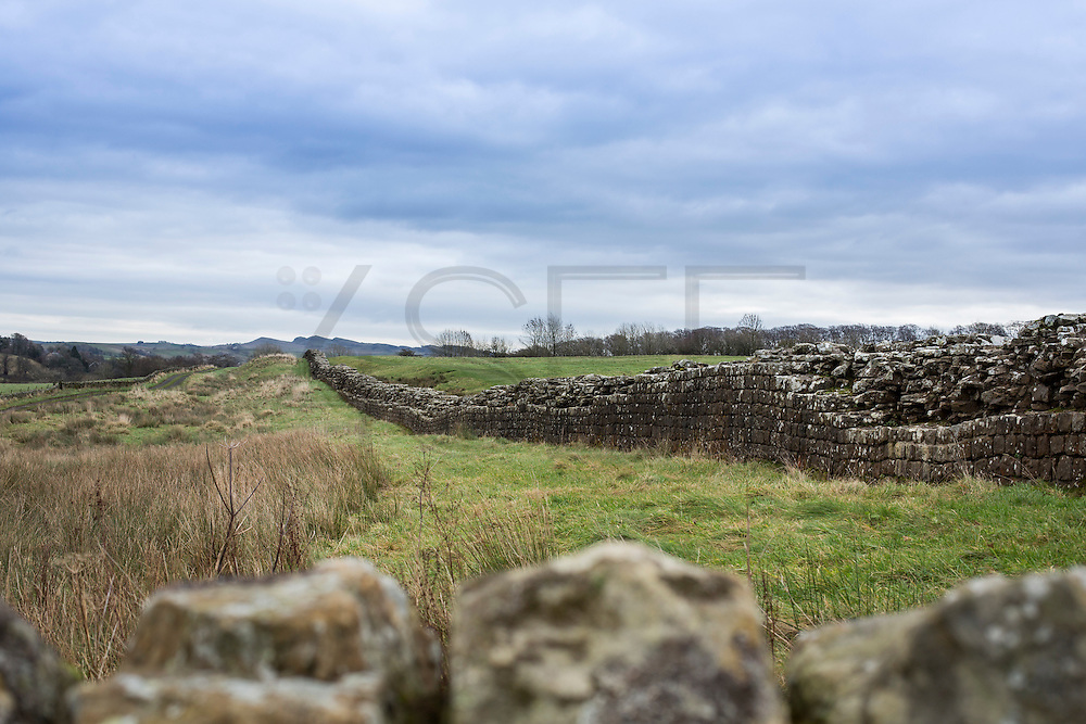 view of the Hadrian's wall near Brampton