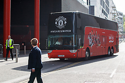 © Licensed to London News Pictures. 20/05/2016. London, UK. Manchester United players arrive at their hotel in Wembley, London on Friday, 20 May 2016, ahead of the FA Cup final against Crystal Palace in Wembley Stadium. Photo credit: Tolga Akmen/LNP