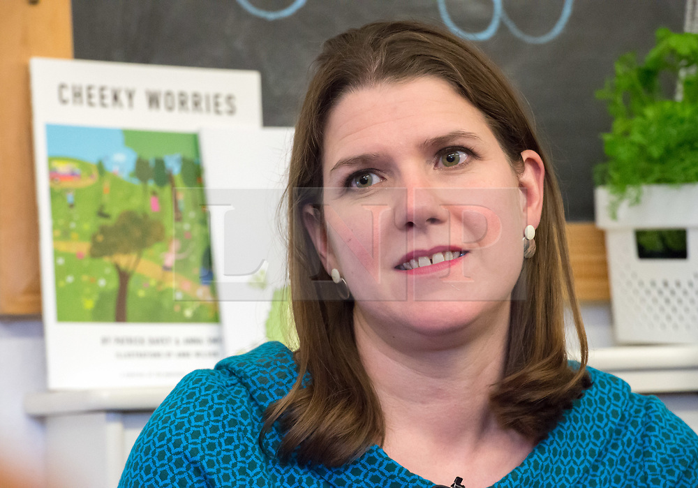 © Licensed to London News Pictures. 07/11/2019. Midsomer Norton, Bath and North East Somerset, UK. General Election 2019; JO SWINSON, Leader of the Liberal Democrats, visits Free Rangers, a 57-place Forest School Nursery that offers childcare from birth to five years. The Lib Dems aim to highlight the threat to UK nurseries, pre-schools and childminders with the risk of closures due to Government cuts and ongoing under-funding. Photo credit: Simon Chapman/LNP.