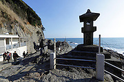Japan Enoshima island at Chigogafuchi look out