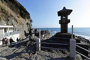 Japan Enoshima island at Chigogafuchi look out