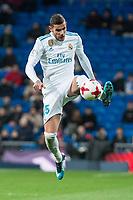 Real Madrid Theo Hernandez during King's Cup match between Real Madrid and CD Numancia at Santiago Bernabeu Stadium in Madrid, Spain. January 10, 2018. (ALTERPHOTOS/Borja B.Hojas)