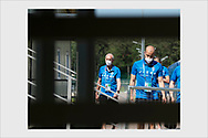 Tight covid and safety measures at the Finland team training ground. Zelenogorsk, Russia, June 19, 2021.