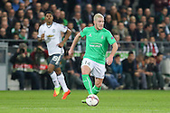 Saint-Etienne Midfielder Jordan Veretout during the Europa League match between Saint-Etienne and Manchester United at Stade Geoffroy Guichard, Saint-Etienne, France on 22 February 2017. Photo by Phil Duncan.