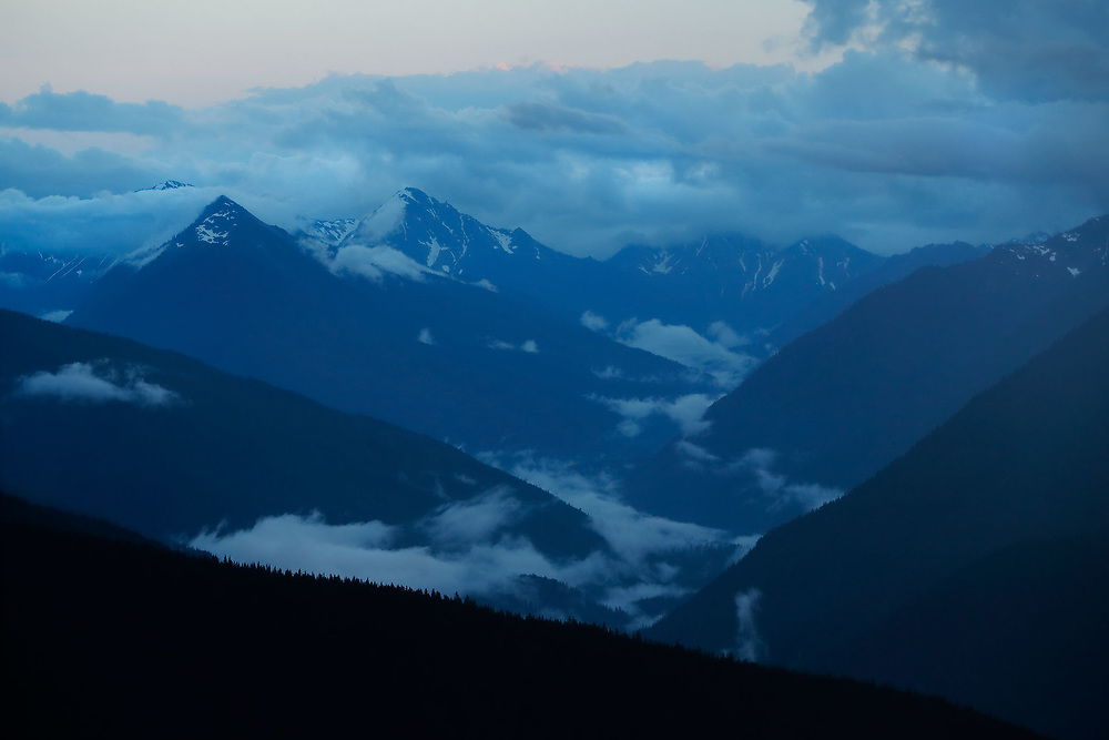 Clearing Storm over the Olympic Mountains, Olympic National Park, WA