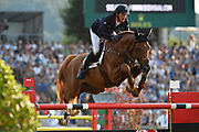 Kevin STAUT (FRA) riding Silver Deux de Virton HDC during the Nations Cup of the World Equestrian Festival, CHIO of Aachen 2018, on July 13th to 22th, 2018 at Aachen - Aix la Chapelle, Germany - Photo Christophe Bricot / ProSportsImages / DPPI