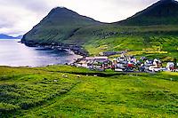 Faroe Islands. Gjogv on the northeast tip of the island of Eysturoy.