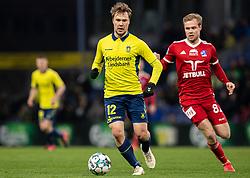 Simon Tibbling (Brøndby IF) under kampen i 3F Superligaen mellem Brøndby IF og Lyngby Boldklub den 1. marts 2020 på Brøndby Stadion (Foto: Claus Birch).