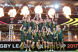 December 2, 2017 - Brisbane, Australie - Australia win the World Cup during the Rugby League World Cup Men s Final match between Australia and England at Brisbane Stadium, Brisbane, Australia on 2 December 201 (Credit Image: © Panoramic via ZUMA Press)