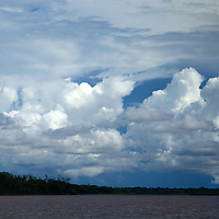 South America, Peru, Amazon. Clouds of the Amazon.