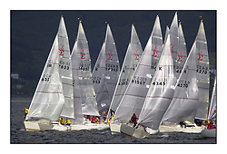 Yachting- The second start of the Bell Lawrie Scottish 2002 series at Inverkip racing to Tarbert Loch Fyne where racing continues over the weekend.<br /><br />Pepsi IRL633 at the front of the Sigma 33 pre start bustle.<br /><br />Pics Marc Turner / PFM