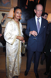 PRINCESS ERMIAS SAHLE-SELASSIE HAILE-SELASSIE OF ETHIOPIA and HRH THE DUKE OF KENT at a private view of portraits, Still-Lives and Statues by artists Barbara Kaczmarowska Hamilton and Simon Boudard held at Partridge Fine Art Ltd, New Bond Street, London on 16th May 2007.<br /><br />NON EXCLUSIVE - WORLD RIGHTS
