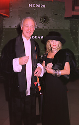 LORD & LADY WEINBERG, she is fashion designer Anouska Hemple, at a party in London on 31st January 1998.MEZ 14