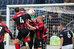 Falkirk's Darren Dods scoring their goal..Falkirk 1 v 0 Queen of the South, 15/10/2011..Pic © Michael Schofield.