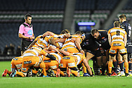 Edinburgh were dominant in the scrum during the Guinness Pro 14 2018_19 match between Edinburgh Rugby and Toyota Cheetahs at BT Murrayfield Stadium, Edinburgh, Scotland on 5 October 2018.